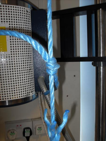 Rope and knots tensile testing program